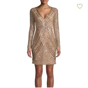 Gold sequin detailed dress from Parker Black .